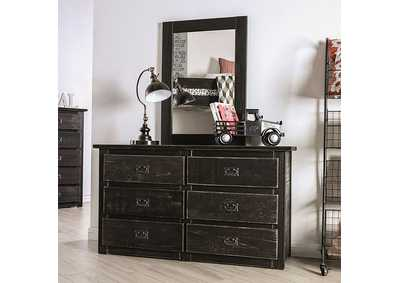 Image for Ampelios Wire-Brushed Black Dresser