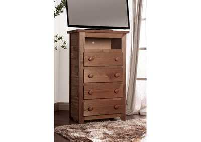 Image for Lea Mahogany Media Chest