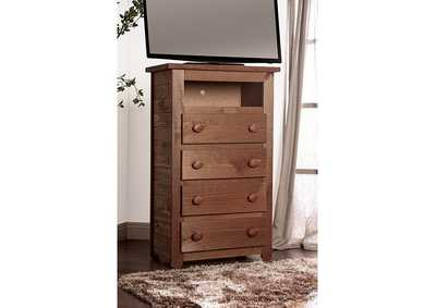 Lea Mahogany Media Chest
