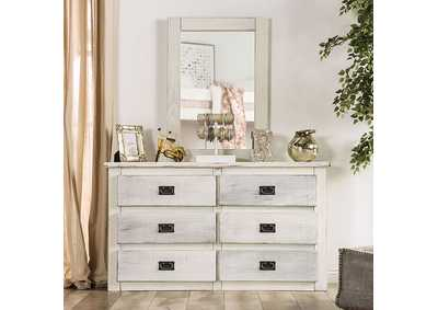 Image for Rockwall Wire-Brushed White Dresser