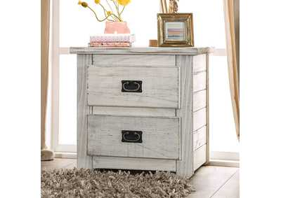 Image for Rockwall Wire-Brushed White Night Stand
