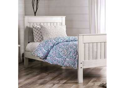 Image for Rockwall Weathered White Twin Bed