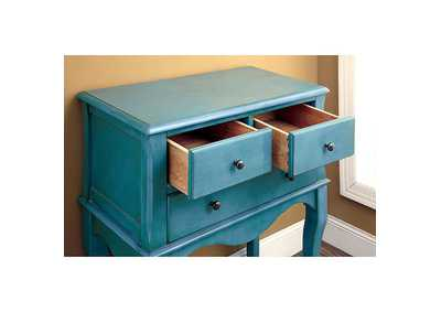 Image for Sian Antique Teal Hallway Cabinet