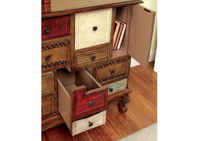 Image for Desree Multi-Colored Panel 9 Drawer Chest