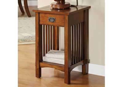 Image for Valencia IV Antique Oak Telephone Stand w/1 Drawer & Open Shelf