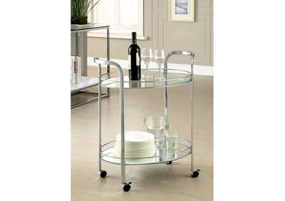 Image for Loule Chrome Serving Cart