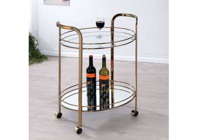 Image for Starla Champagne Serving Cart