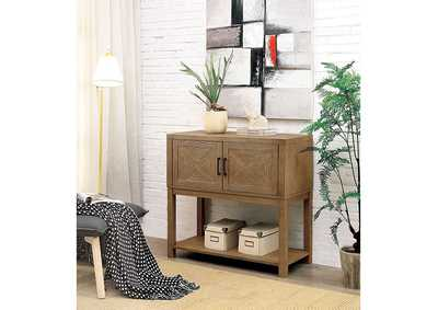 Image for Ariston Natural Tone Hall Way Cabinet w/Open Shelf
