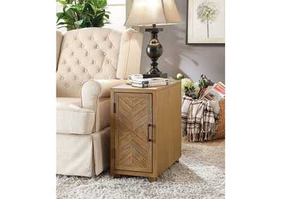 Sage Light Oak Side Table
