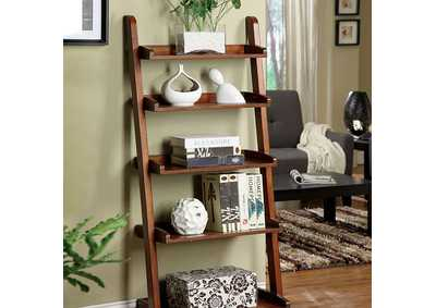 Image for Lugo Oak 5-Tier Ladder Shelf