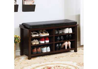 Image for Tara Brown Shoe Rack Bench