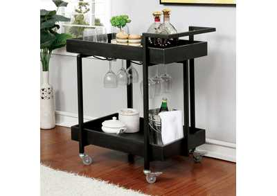 Image for Nera Black Serving Cart