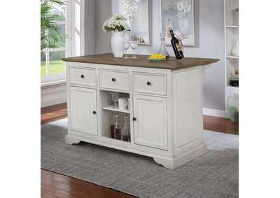 Image for Scobey White Kitchen Island