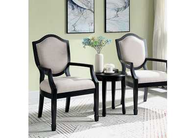 Image for Emma Black Accent Table And Chair