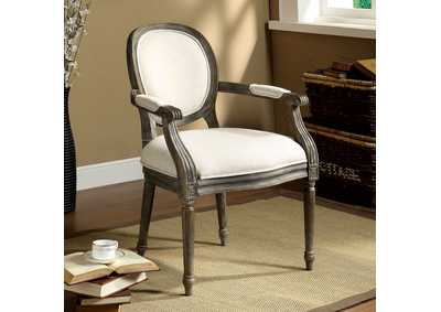 Image for Conway Beige Linen Accent Chair w/Padded Arms & Seat