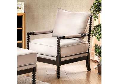 Image for Sybil Beige Accent Chair