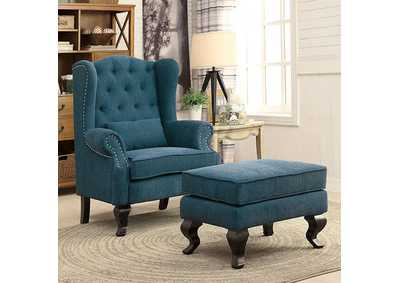 Image for Willow Teal Ottoman