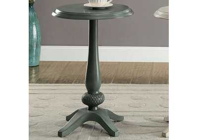 Image for Saira Round Accent Table, Antique Teal
