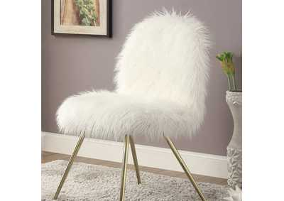 Caoimhe White Accent Chair,Furniture of America