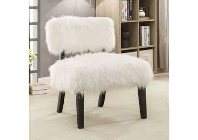 Mystic Sovereign White Accent Chair