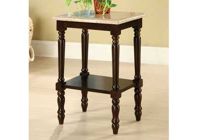 Image for Santa Clarita Dark Cherry Rectangle Top Stand