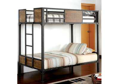 Image for Clapton Black Twin/Full Bunk Bed