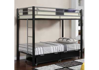 Image for Clifton Silver Twin/Twin Bunk Bed