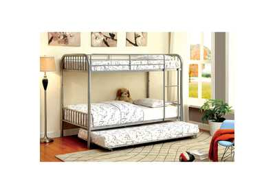 Image for Rainbow Silver Twin Metal Bunk Bed