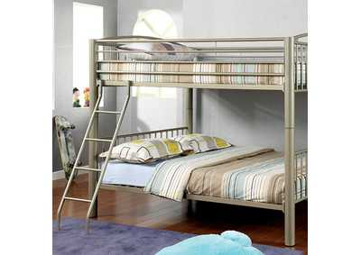 Image for Lovia Metallic Gold Full Metal Bunk Bed