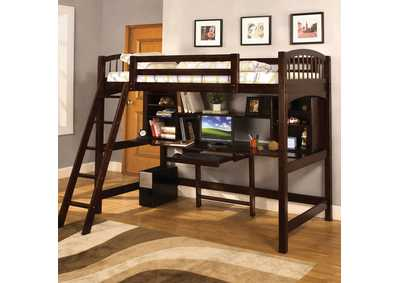 Image for Dakota Ridge Espresso Twin Bed/Workstation