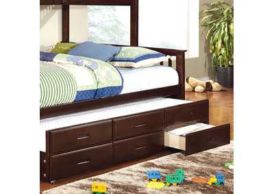 Image for University Dark Walnut Twin XL Trundle w/3 Drawers