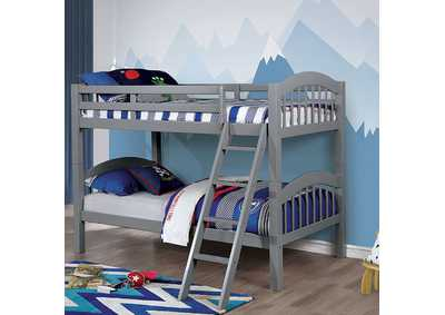 Image for Coney Island Gray Twin/Twin Bunk Bed