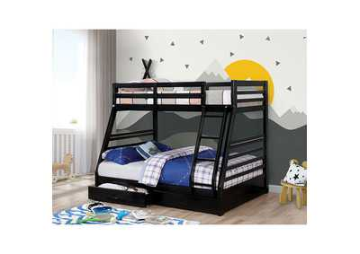 California Black Twin/Full Bunk Bed