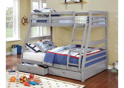Image for California Gray Twin/Full Bunk Bed