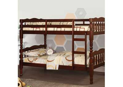 Image for Catalina Cherry Twin Bunk Bed