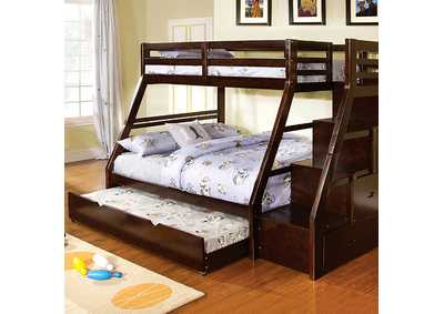 Image for Ellington Dark Walnut Twin/Full Bunk Bed