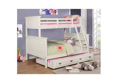 Marci White Twin/Full Bunk Bed