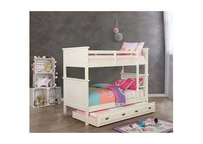 Marci White Twin/Twin Bunk Bed