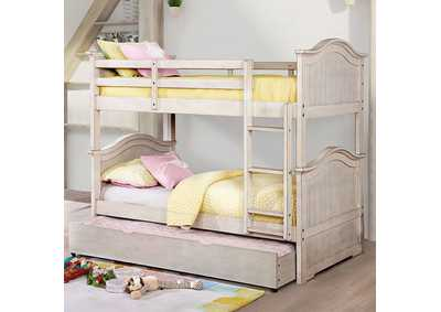 Hermine White Twin/Twin Bunk Bed,Furniture of America