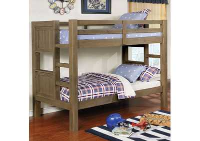 Kindred Wire-Brushed Gray Twin/Twin Bunk Bed