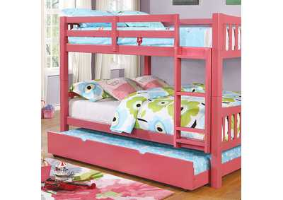 Image for Cameron Full/Full Bunk Bed, Pink