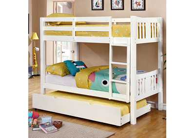 Image for Cameron Twin/Twin White Bunk Bed