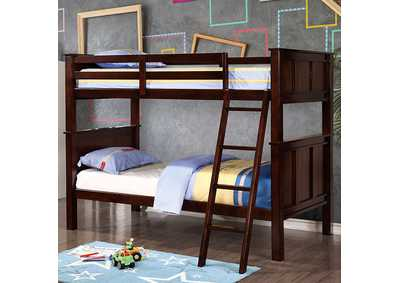 Image for Gracie Dark Walnut Twin/Full Bunk Bed