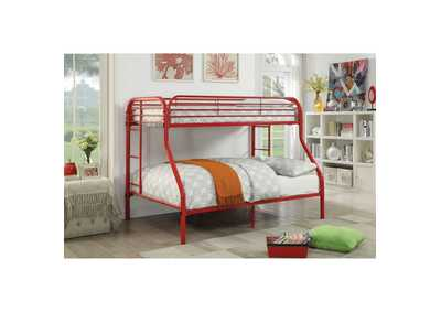 Image for Opal Red Twin/Full Bunk Bed