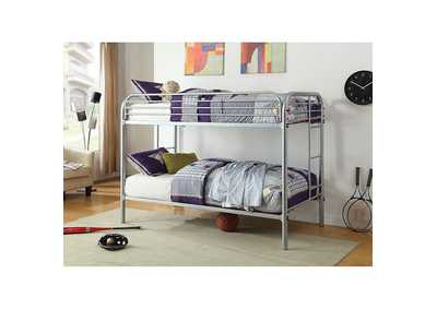 Image for Opal Silver Twin/Twin Metal Bunk Bed