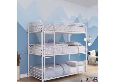 Opal White Twin/Twin/Twin Bunk Bed