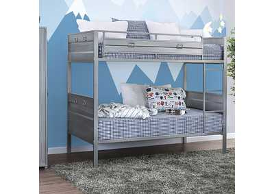 Mccredmond Silver Twin/Twin Bunk Bed
