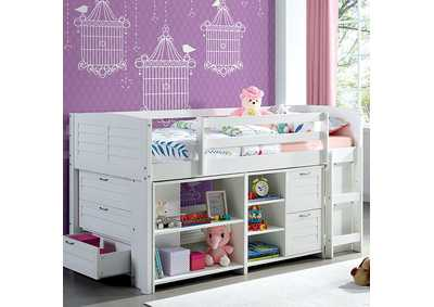 Image for Abigail White Twin Loft Bed Set