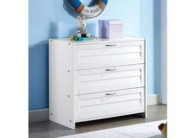 Image for Abigail White 3-Drawer Chest