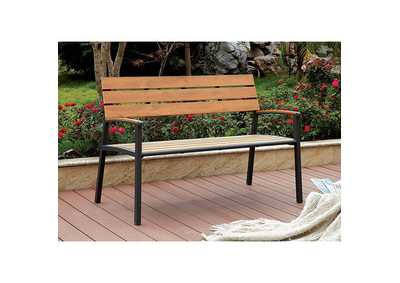 Image for Isha Oak Patio Bench